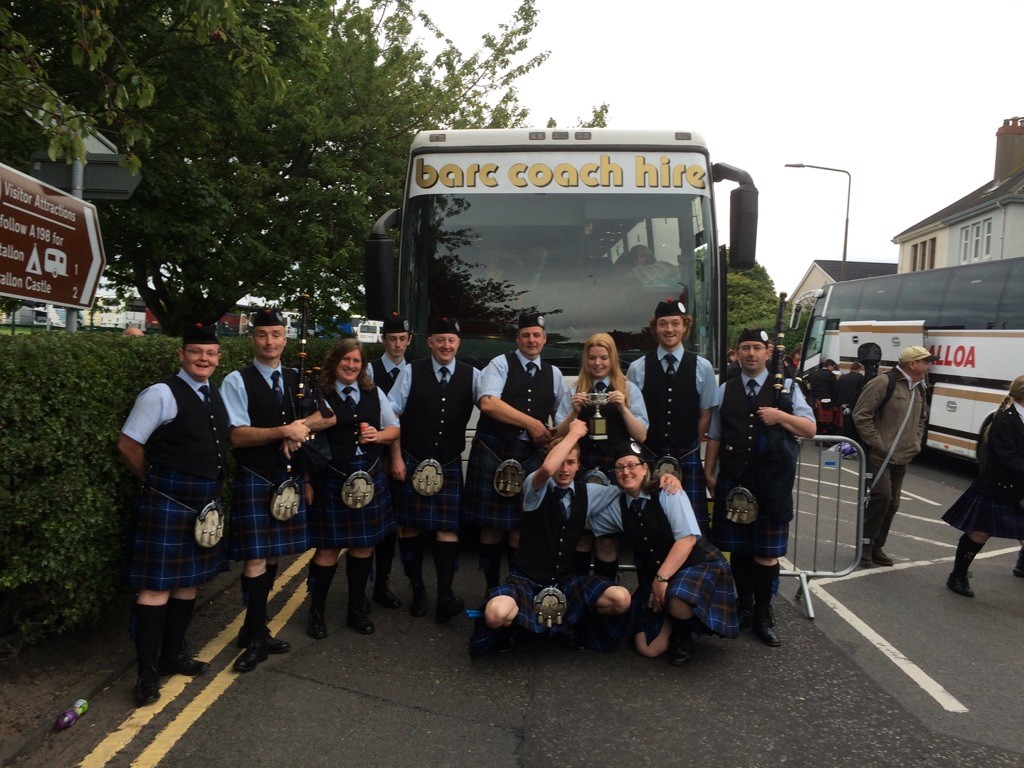 The band after North Berwick 2015