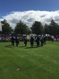 Tweedvale Pipe Band in the competing circle
