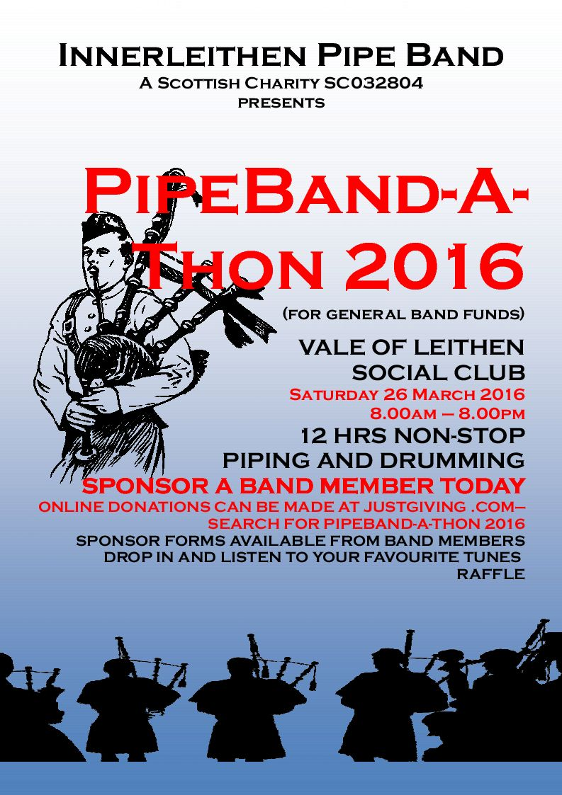 Pipeband-A-Thon 2016 poster