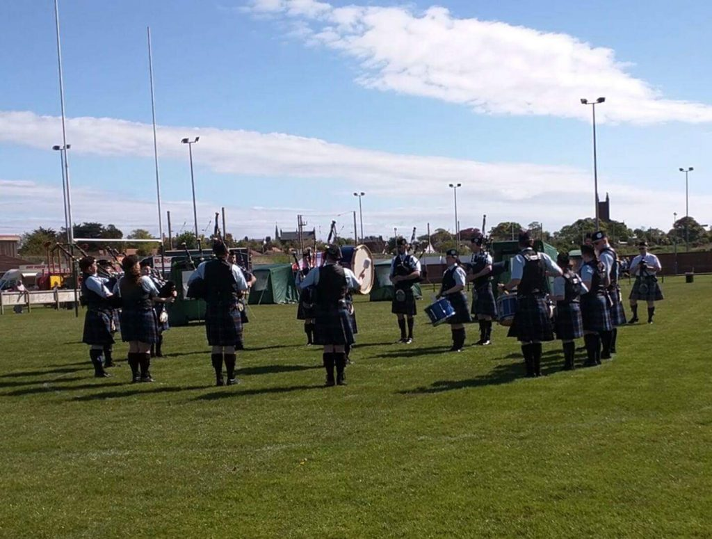 Tweedvale PB hard at play in the competition circle, Dunbar 2016