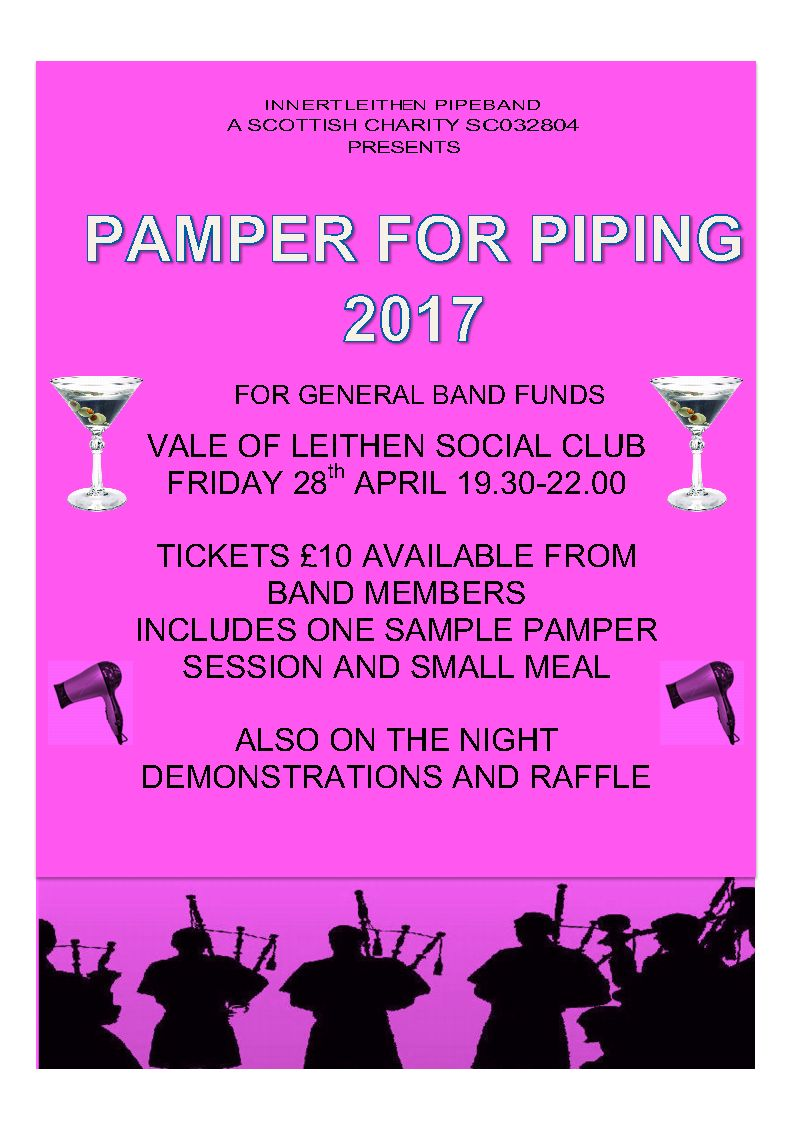 Poster advertising Pamper for Piping
