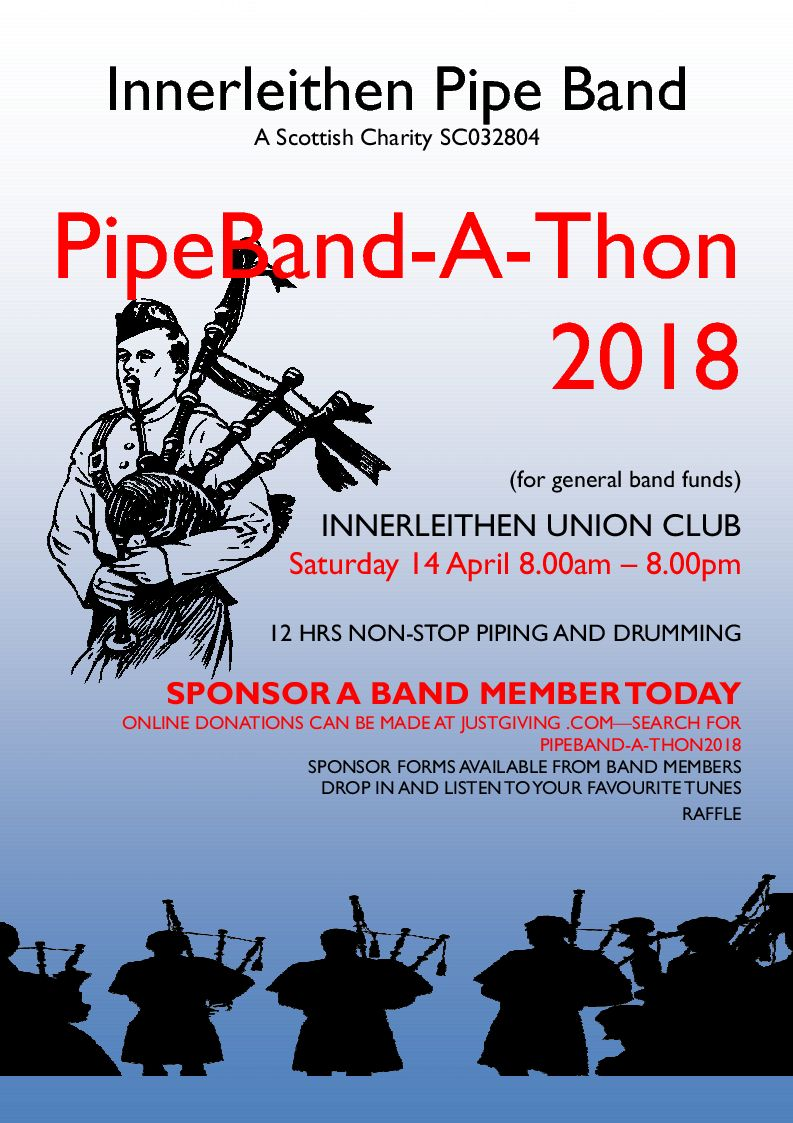 Poster for PipeBand-A-Thon 2018